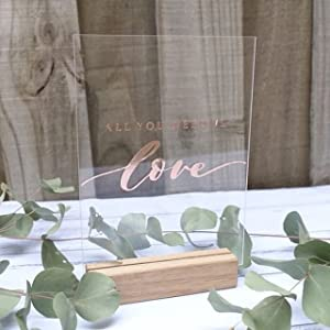 acrylic table number sign table signage wedding table setting decorations