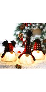 Lighted Christmas Plush Gnome, 3 Set