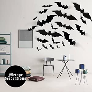 Halloween Eve DIY PVC 3D Bats Waterproof Spooky Clings Decoration Party Wall  Window Stickers