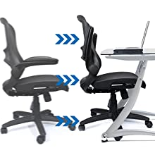 mesh office chair task chair mesh desk chair mid back mesh computer chair with armrests mesh chair