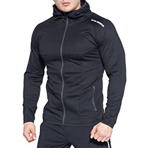 BROKIG Mens Gym Workout Hoodies