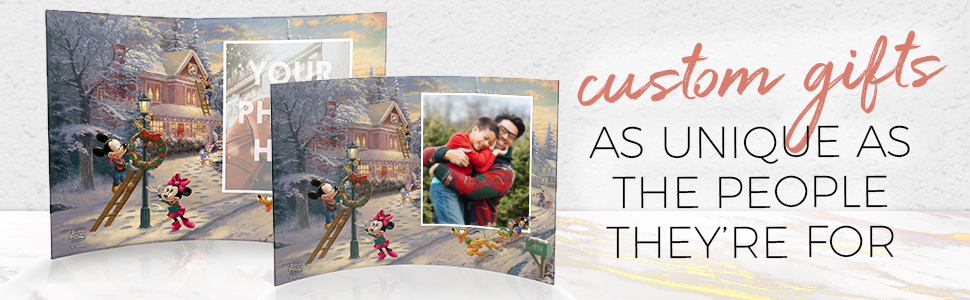 Custom Photo Prints Disney Mickey and Minnie Mouse Victorian Christmas Trend Setters Personalized