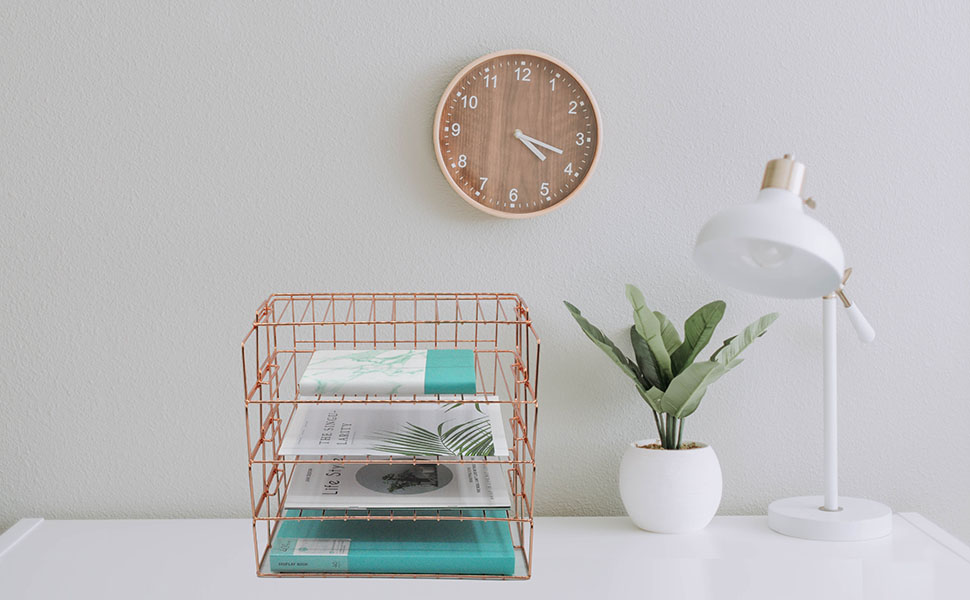 rose gold letter tray