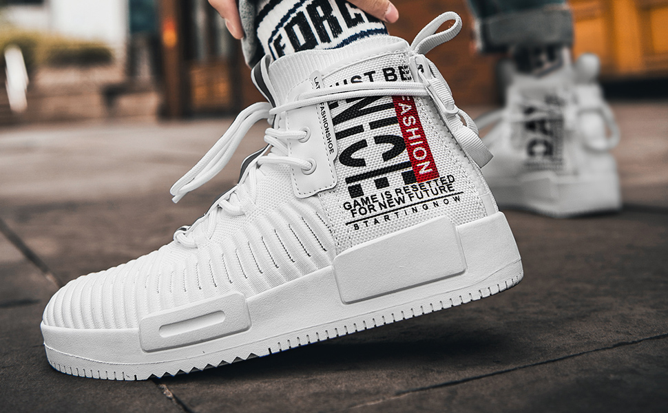 white high tops sneakers