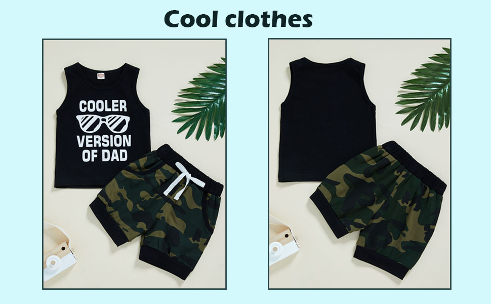 baby boy camouflage outsits tank shorts