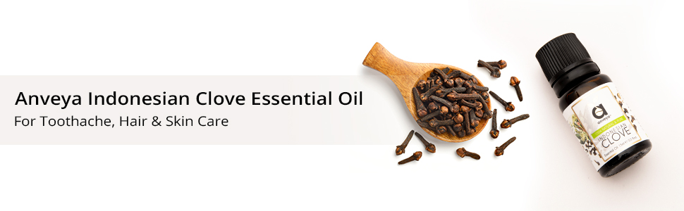 Natural and Pure Indonesian Clove Essential Oil for for Hair Care, Acne, Toothache & Aroma Diffuser