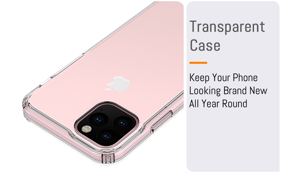 """iPhone 11 Pro 5.8"""" inch Transparent Case Keep Your cell Phone Looking Brand New All Year Round"""