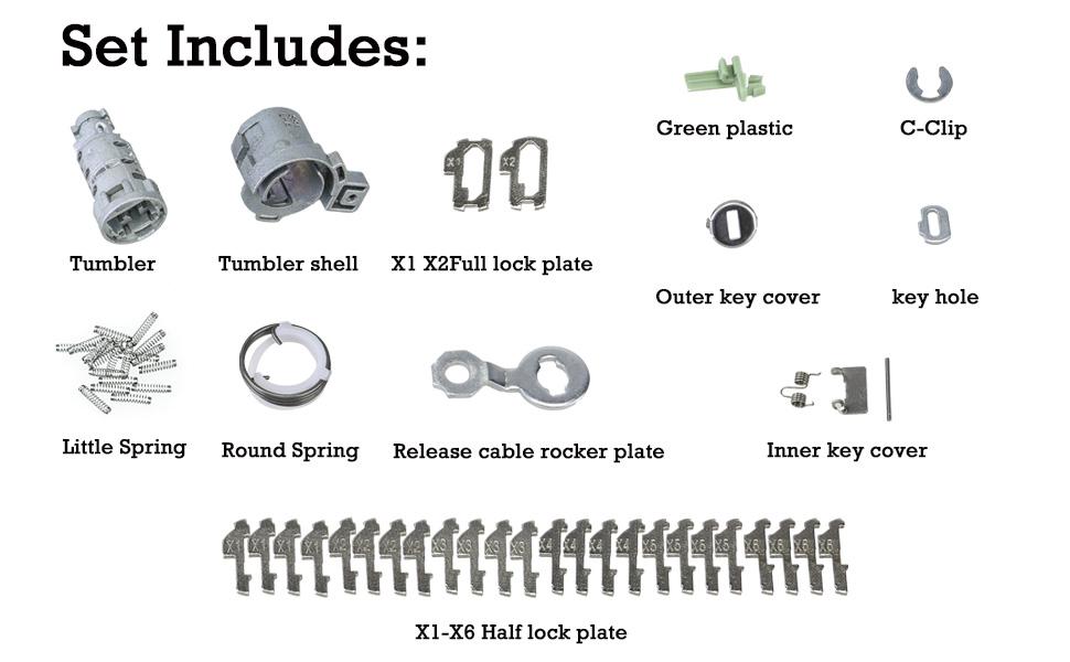 01-05 Civic 00-09 S2000 3mirrors L/R Door Lock Cylinder Recode ...