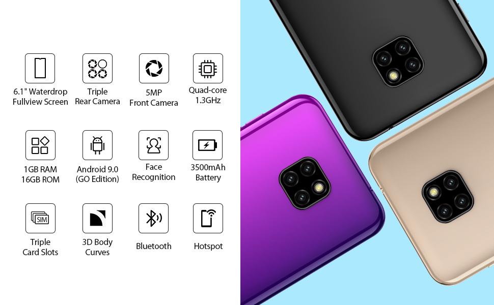 """6.1"""" Water-drop Big Screen Smartphone"""