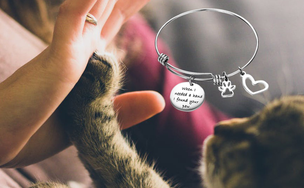 Dog Paws /& 2 SIDED PAWS GOLD PLATED BANGLE JUST ADORABLE FOR DOG LOVERS!