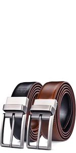 mens reversible belts 1.25 inch wide