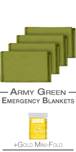 blankets army green