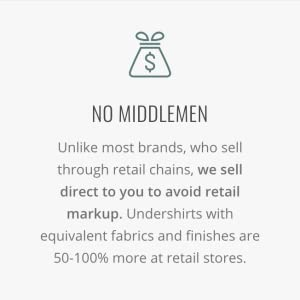 direct to consumer, no middlemen