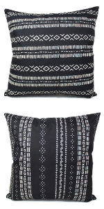 Boho throw pillow cushion covers for home decor farmhouse living room chic mud cloth tribal African
