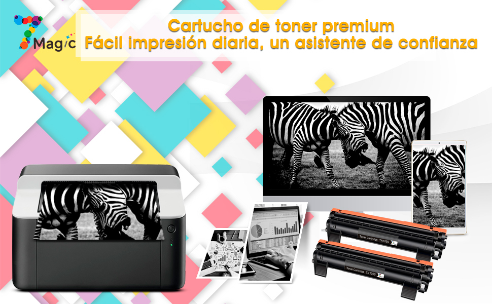 7Magic Compatible cartucho de tóner para Brother TN1050 TN 1050 ...
