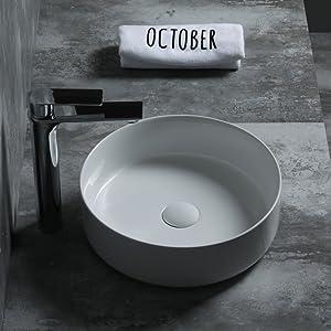 SFINO OC50 Starbath Vasque /à poser en c/éramique Lavabo pour salle de bain 50 x 38 x 12 cm