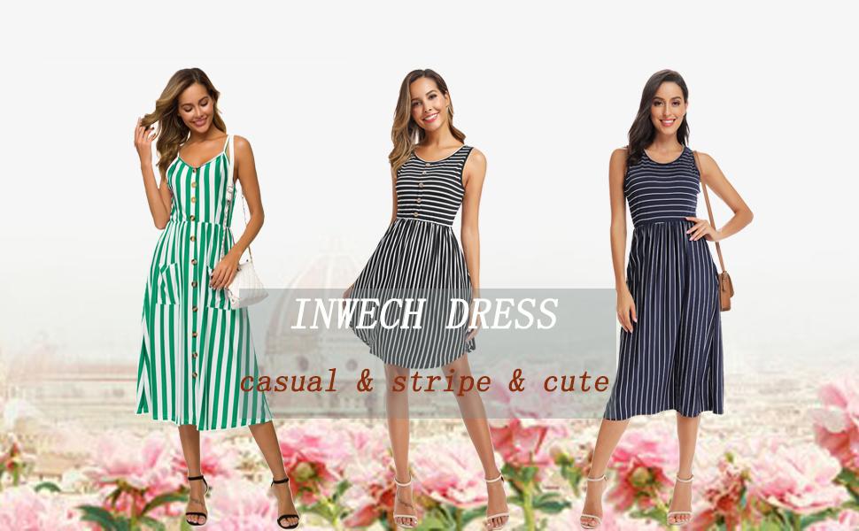 midi casual dresses for women summer