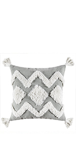 tufted tribal boho pillow cover accent pillows
