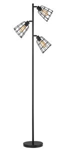 Black Industrial Tree Floor Lamp