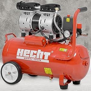 Hecht Whisper Compressor 2080 Air Compressor Compressed Air 24 Litre Boiler 800 Watt 8 Bar 75 2 Db A 2 Stages Whisper Compressor Baumarkt