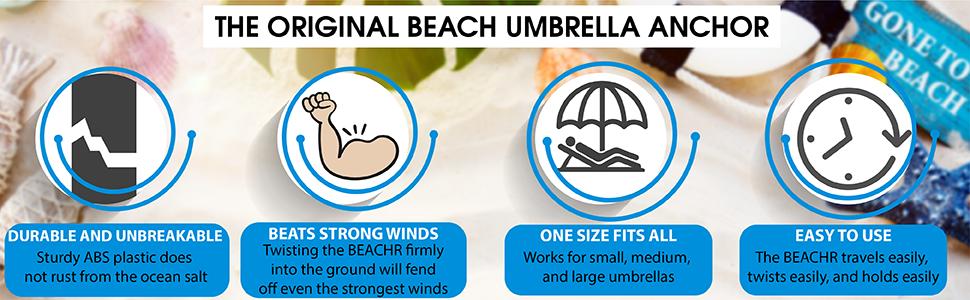 the original beach umbrella anchor