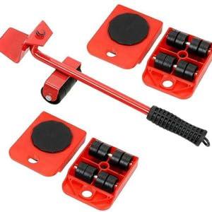 tJexePYK Motor de los Muebles y el Levantador de Mueble Kit Elevador con 4 Paquetes en Movimiento Sliders,Muebles Pesados ??Rodillos Mover Herramientas 360 Grados giratoria de Ratones
