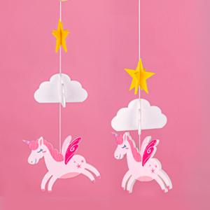 crib hangers for baby baby room decor baby room hanger nursery felt decoration unicorn crib mobile