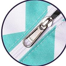 Beach bag with Japanese zipper