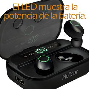 Holiper Auriculares Inalámbricos Bluetooth 5.0 sin Cable, Cascos in Ear Estéreo HD con Micrófono, True Wireless Earpods para iPhone Android Samsung Huawei Xiaomi Celulares Móvil, Negro: Amazon.es: Electrónica
