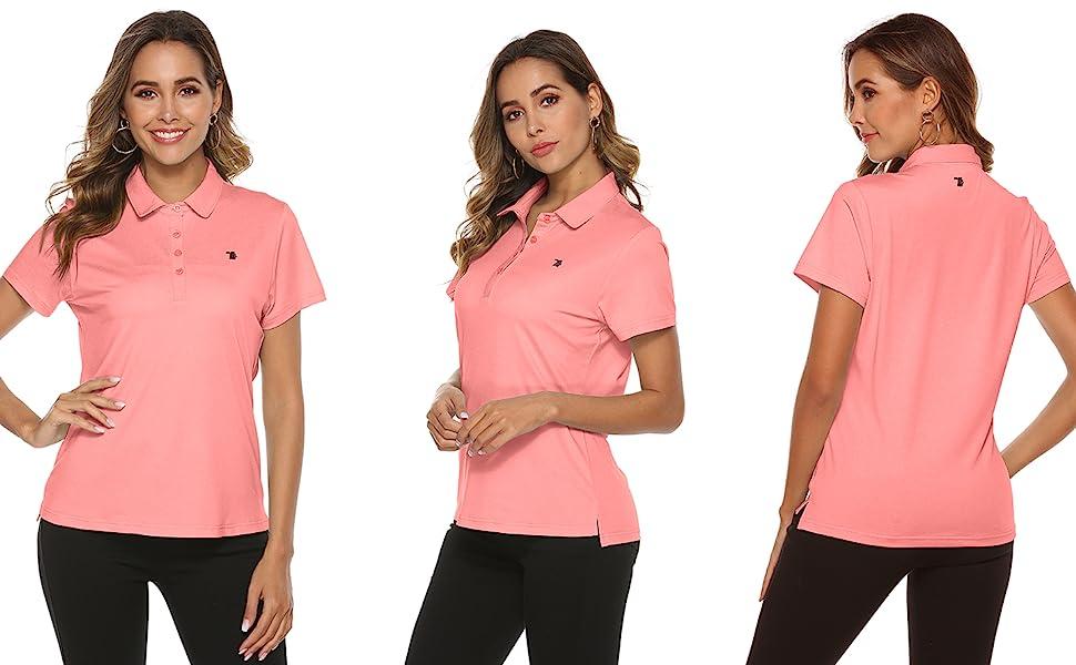 women golf shirts short sleeve