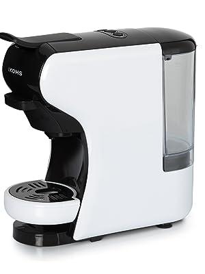 IKOHS Máquina de Café Espresso Italiano - Cafetera Multi Cápsulas Compatible Nespresso 3 en 1, 19 Bares con 2 Programas de Café, deposito extraíble, 0,6 L, Compacto, 1450 W, Apagado automático Blanco: Amazon.es: Hogar