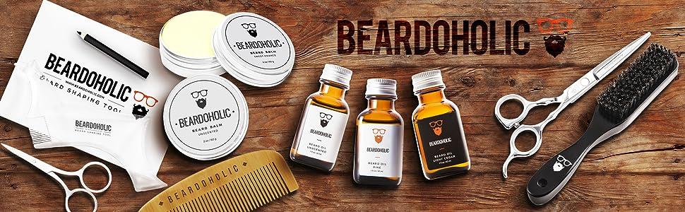 Beardoholic logo: For the love of beard