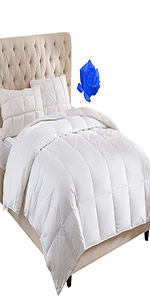Mattress Pad 400TC Cotton 3M Water Resistant Hypoallergenic-69oz Down Alternative Filling Pillowtop Mattress Topper Cover-Fitted Quilted 8-21 Inch California King Mattress Pad Extra Deep Pocket WhatsBedding MP001