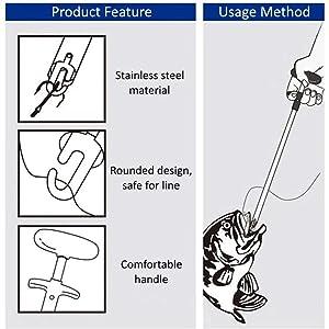 Easy Fish Hook Remover Neue Angelwerkzeug Minimierung der Verletzungen Werk L8Z3