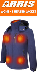 heated jacket with battery pack