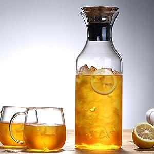 Karafu glass carafe pitcher jug kettle