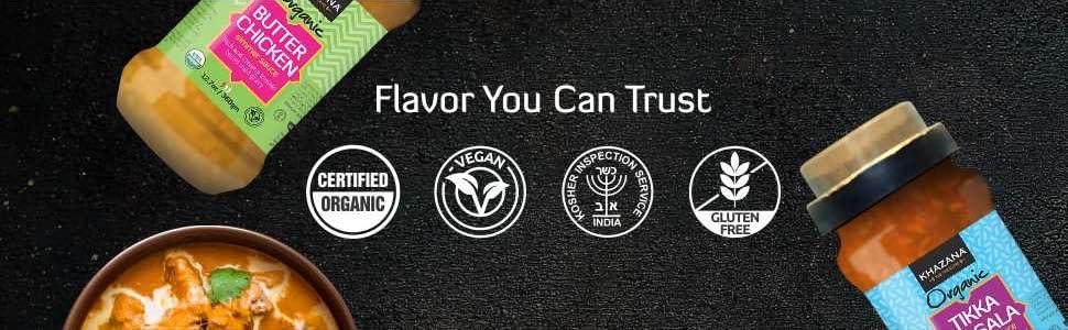 Khazana Organic Indian Simmer Sauces