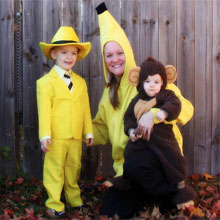 halloween, yellow, custome, curios george, monkey, cartoon, man, yellow hat, boy, boys, kids