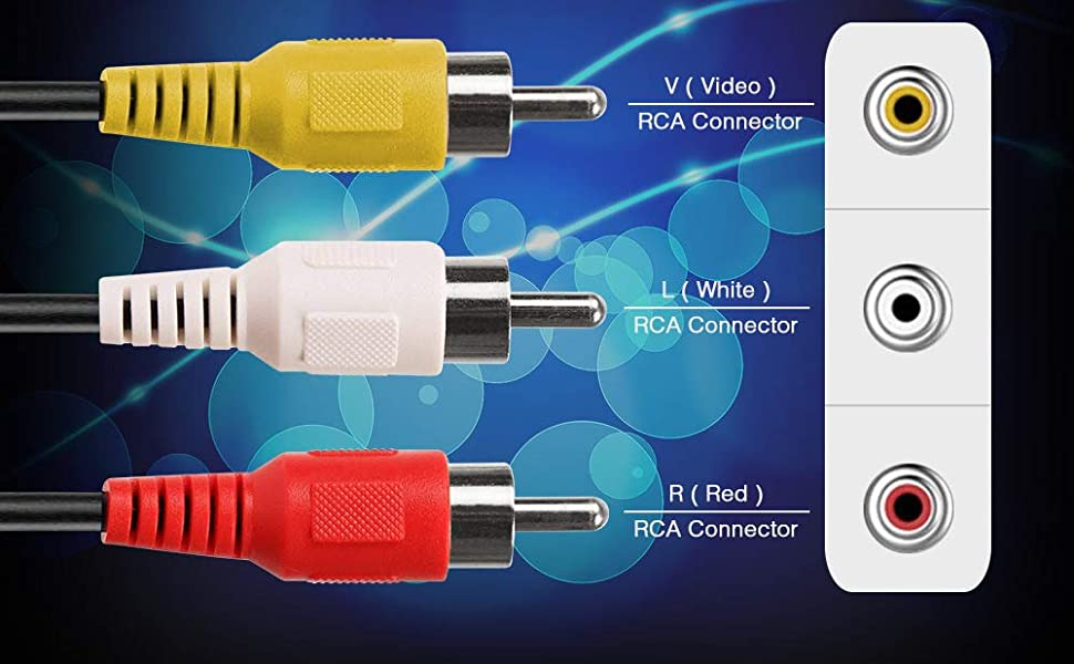 RCA Audio/Video Cable 3 Male to 3 Male