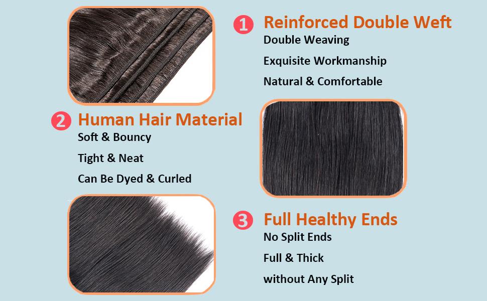 short straight hair bundles