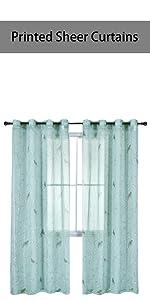 bird sheer curtains