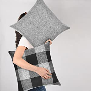 solid pillow covers