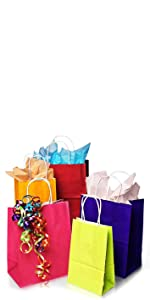 Bright Colored Matte Shopping Bags