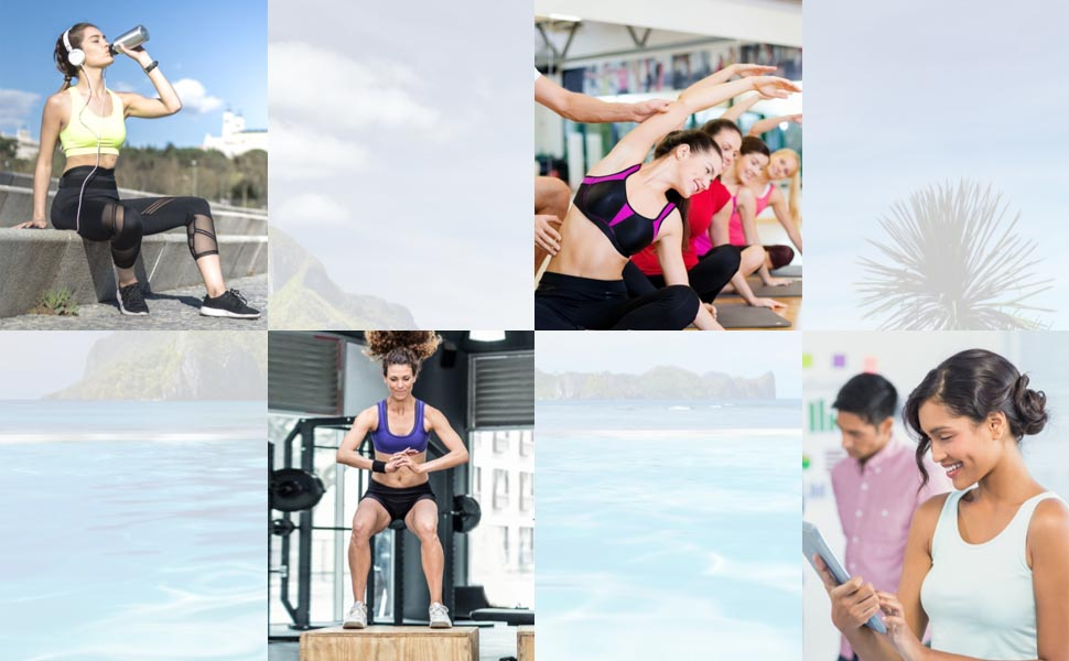 Womens Strech Ohne Buegel Push up Yoga Sports BH Bra Top Set Fuer Fitnesstraining Polsterung
