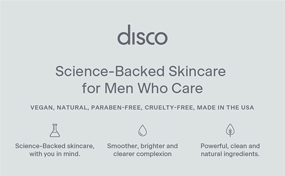 disco skincare face cleanser stick cleansing charcoal antioxidant anti-aging exfoliating natural