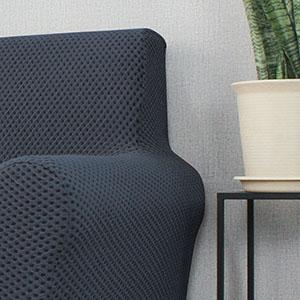grey armchair cover