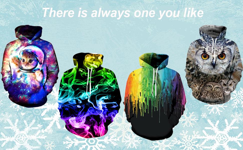 Unisex 3D Print Hooides Sweatshirts