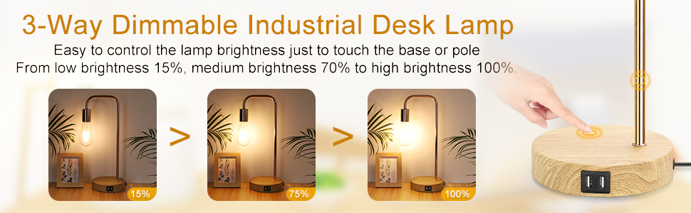 3 way dimmable led lamp