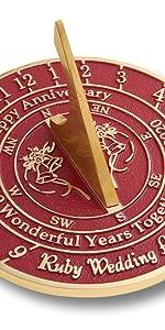 Ruby anniversary sundial