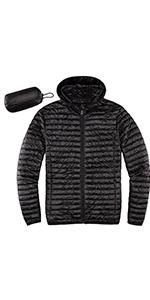 Men's Lightweight Quilted Ultra Loft Packable Puffer Hooded Jacket Jackets